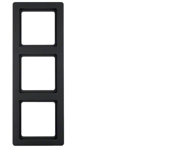 Q.1 Ramka 3-krotna, antracyt, aksamit Berker 10136086