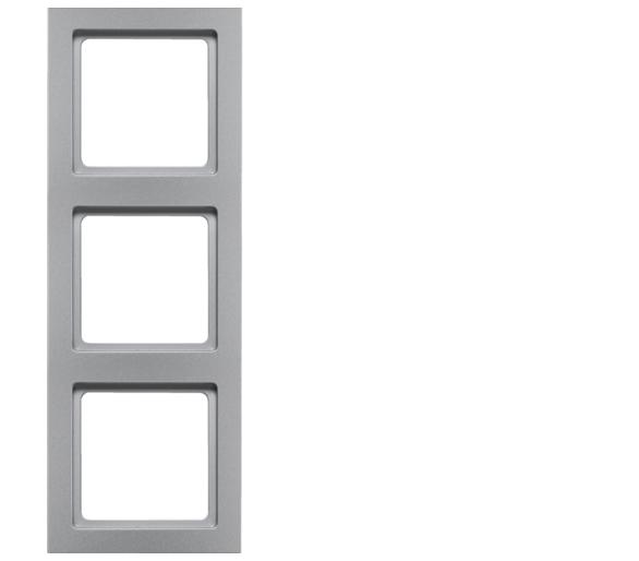 Q.3 Ramka 3-krotna, alu aksamit, lakierowany Berker 10136094