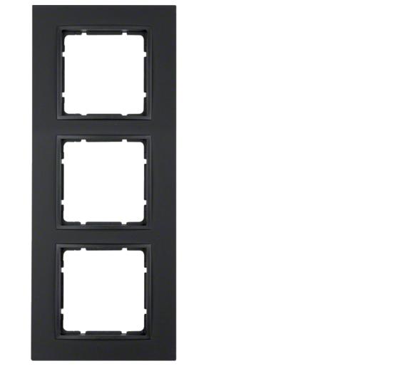 B.7 Ramka 3-krotna, antracyt, mat Berker 10136626