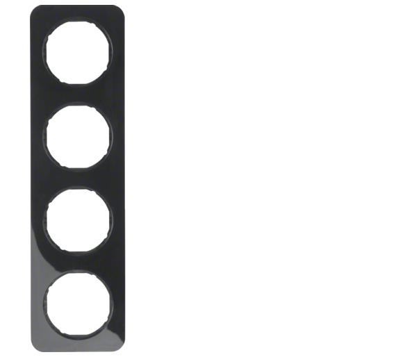 R.1 Ramka 4-krotna, czarny, połysk Berker 10142145