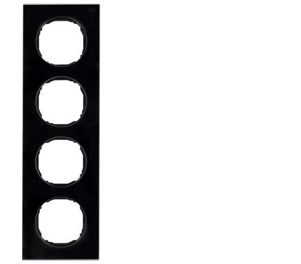 R.8 Ramka 4-krotna, szkło, czarny Berker 10142616
