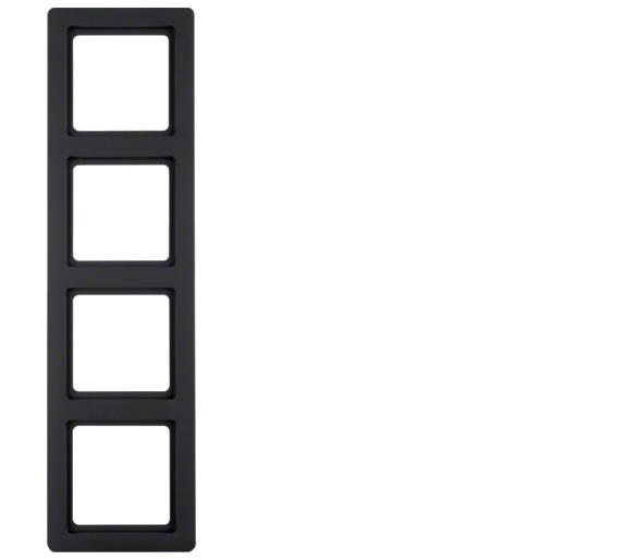 Q.1 Ramka 4-krotna, antracyt, aksamit Berker 10146086