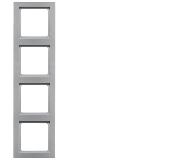 Q.3 Ramka 4-krotna, alu aksamit, lakierowany Berker 10146094