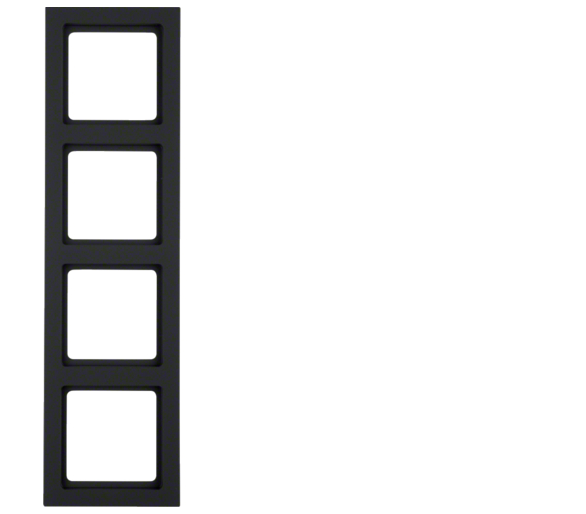 Q.3 Ramka 4-krotna, antracyt, aksamit Berker 10146096