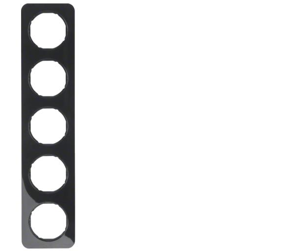 R.1 Ramka 5-krotna, czarny, połysk Berker 10152145