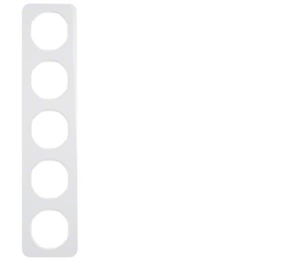 R.1 Ramka 5-krotna, biały, połysk Berker 10152189