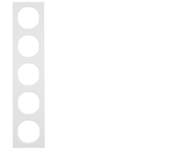 R.3 Ramka 5-krotna, biały, połysk Berker 10152289