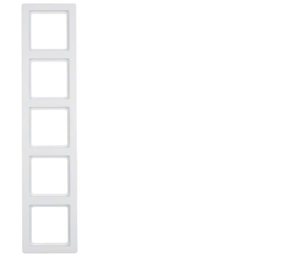 Q.1 Ramka 5-krotna, biały, aksamit Berker 10156089