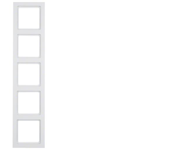 Q.3 Ramka 5-krotna, biały, aksamit Berker 10156099