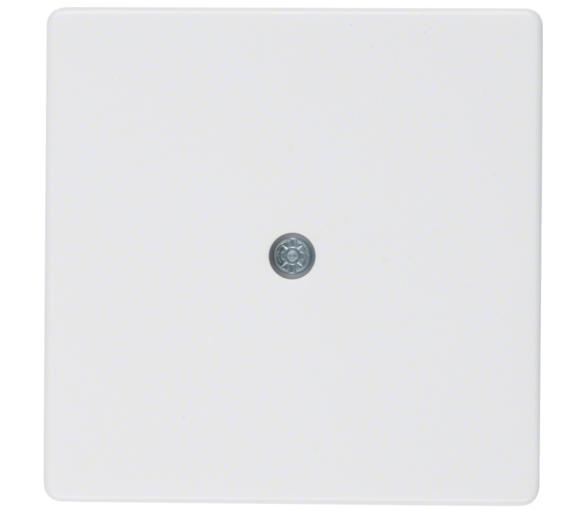 Q.x Płytka czołowa do przyłącza kablowego, biały, aksamit Berker 10196089