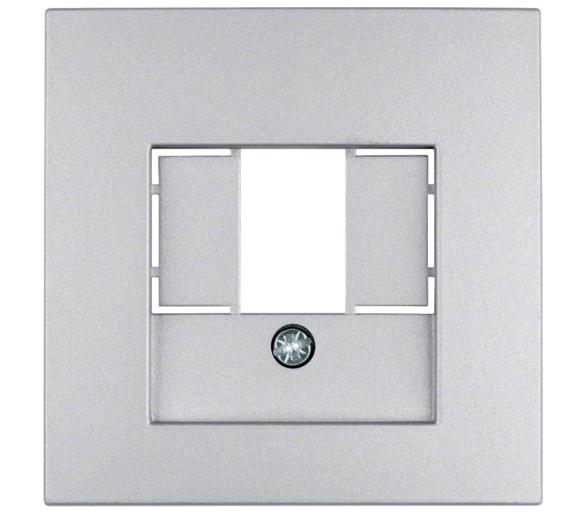 B.Kwadrat/B.7 Płytka czołowa do gniazda głośn. i gniazda ład. USB, alu mat, lak. Berker 10331404