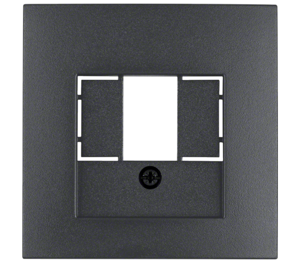 B.x Płytka czołowa do gniazda głośn. i gniazda ład. USB, antracyt mat Berker 10331606