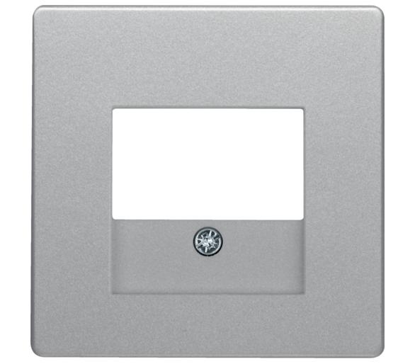 Q.x Płytka czołowa do gniazda głośnikowego i gniazda USB, alu aksamit, lak Berker 10336084