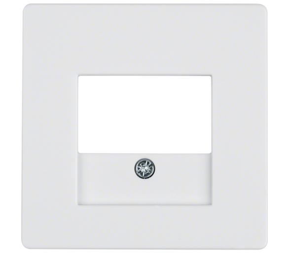 Q.x Płytka czołowa do gniazda głośn. i gniazda ład. USB, biały, aksamit Berker 10336089