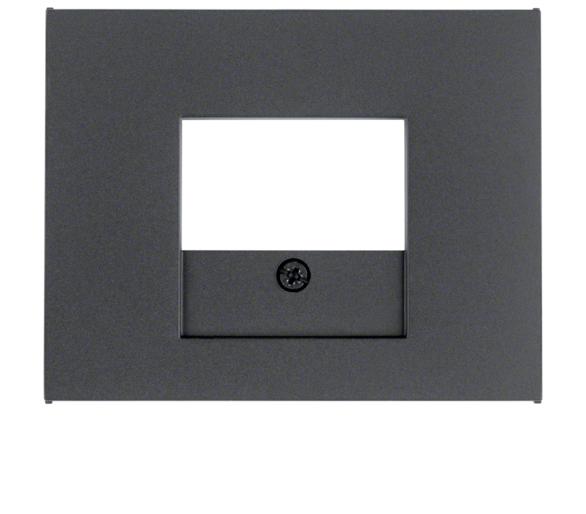K.1 Płytka czołowa do gniazda głośn. i gniazda ład. USB, antracyt Berker 10357006