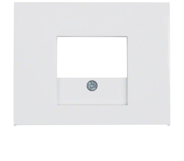 K.1 Płytka czołowa do gniazda głośn. i gniazda ład. USB, biały Berker 10357009