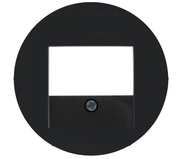 R.x Płytka czołowa do gniazda głośn. i gniazda ład. USB, czarny, połysk Berker 10382045