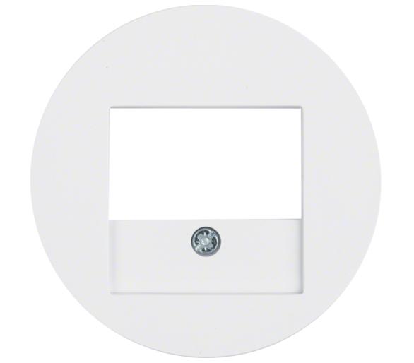 R.x Płytka czołowa do gniazda głośn. i gniazda ład. USB, biały, połysk Berker 10382089