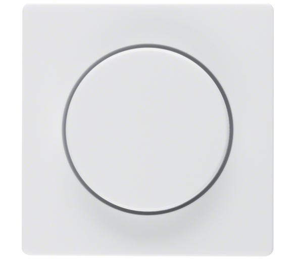 Q.x Płytka czoł. pokręt. reg. do ściemniacza obrotowego biały, aks Berker 11376089