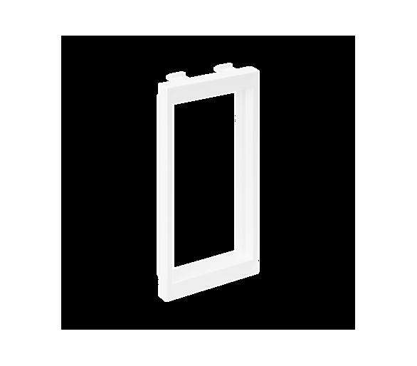 Adapter CIMA poziomy sąsiadujący 2× K45 108×52mm czysta biel S44/9