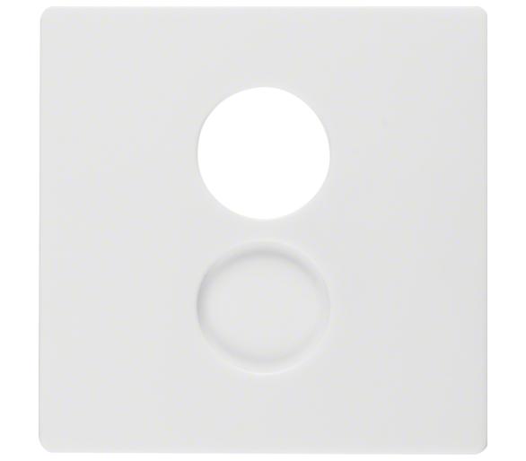Q.x Płytka czołowa do gniazda gł. i przył. mini. biały, aks Berker 11966089