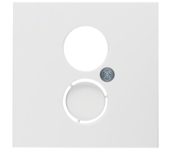 B.X/S.1 Płytka czołowa do gniazda gł. i przył. mini. biały Berker 11968989