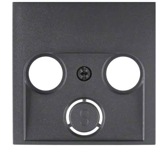 B.X Płytka czołowa do gniazda antenowego 2- i 3-wyj., ant Berker 12031606