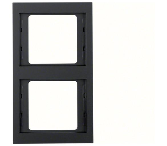 K.1 Ramka 2-krotna pionowa, antracyt mat, lakierowany Berker 13237006