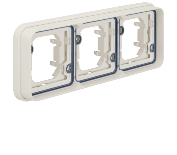 W.1 Ramka 3-krotna pozioma do montażu podtynkowego, IP55, biały Berker 13303502