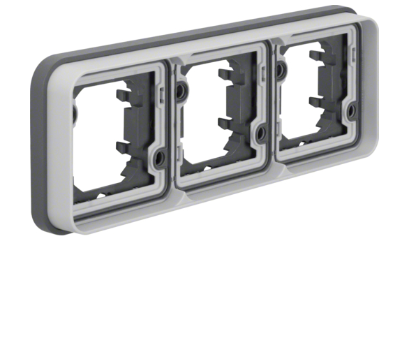 W.1 Ramka 3-krotna pozioma do montażu podtynkowego, IP55, szary Berker 13303505