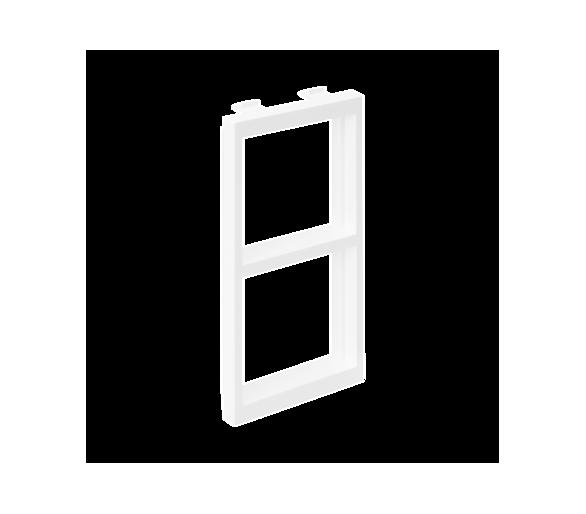 Adapter CIMA poziomy 2× K45 108×52mm czysta biel S66/9