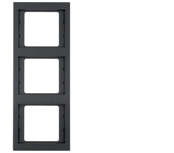 K.1 Ramka 3-krotna pionowa, antracyt mat, lakierowany Berker 13337006