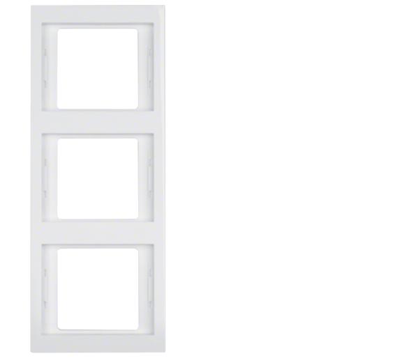 K.1 Ramka 3-krotna pionowa, biały, połysk Berker 13337009