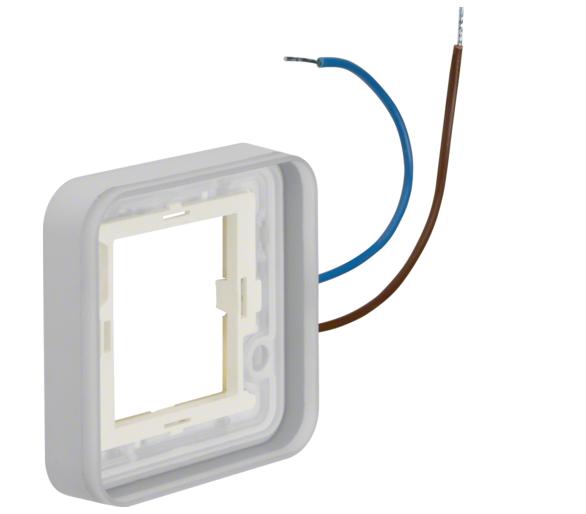 W.1 Ramka 1-kr z podświetleniem białym 230V 0,3 mA do adaptera n/t, IP55 Berker 13383512