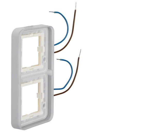 W.1 Ramka 2-kr z podświetleniem białym 230V 0,6 mA do adaptera n/t, IP55 Berker 13393512