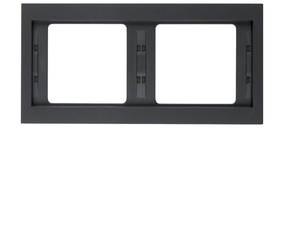 K.1 Ramka 2-krotna pozioma, antracyt mat, lakierowany Berker 13637006
