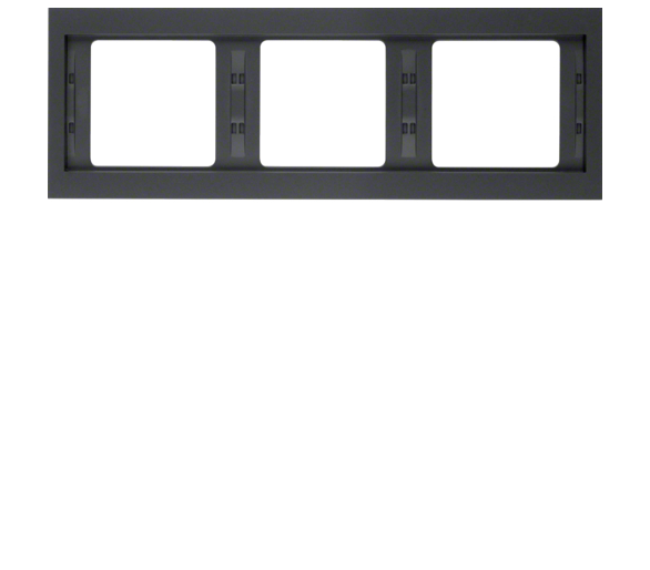 K.1 Ramka 3-krotna pozioma, antracyt mat, lakierowany Berker 13737006