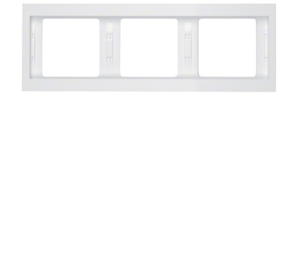 K.1 Ramka 3-krotna pozioma, biały, połysk Berker 13737009