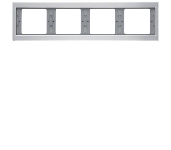 K.5 Ramka 4-krotna, pozioma alu Berker 13837003