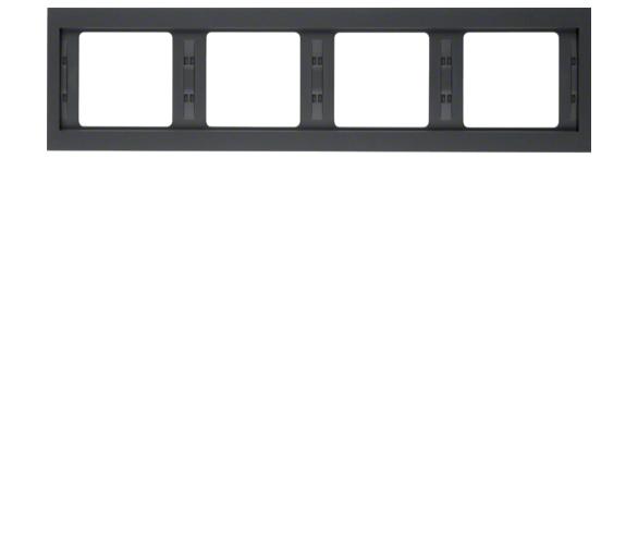 K.1 Ramka 4-krotna pozioma, antracyt mat, lakierowany Berker 13837006