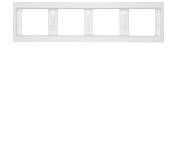 K.1 Ramka 4-krotna pozioma, biały, połysk Berker 13837009