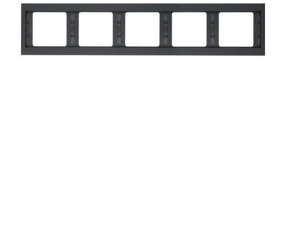 K.1 Ramka 5-krotna pozioma, antracyt mat, lakierowany Berker 13937006