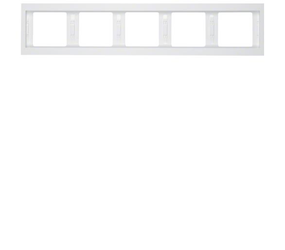 K.1 Ramka 5-krotna pozioma, biały, połysk Berker 13937009