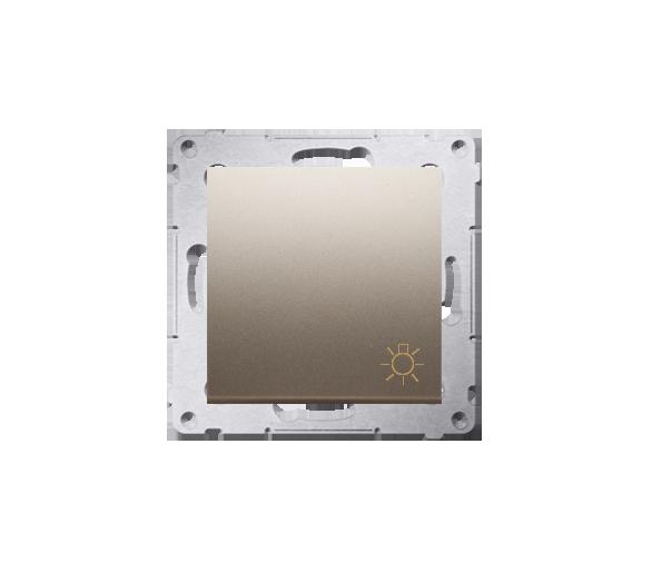 """Przycisk """"światło"""" (moduł) 16AX 250V, zaciski śrubowe, złoty mat, metalizowany DS1A.01/44"""