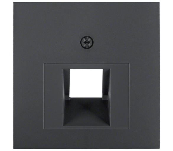 B.X Płytka czołowa do gniazda przyłącz. UAE 1-kr komp./tel., ant Berker 14071606