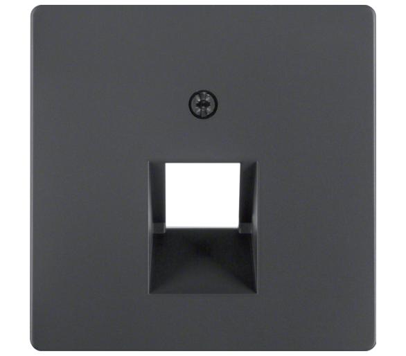 Q.x Płytka czołowa do gniazda przyłącz. UAE 1-kr komp./tel., ant aks, lak Berker 14076086