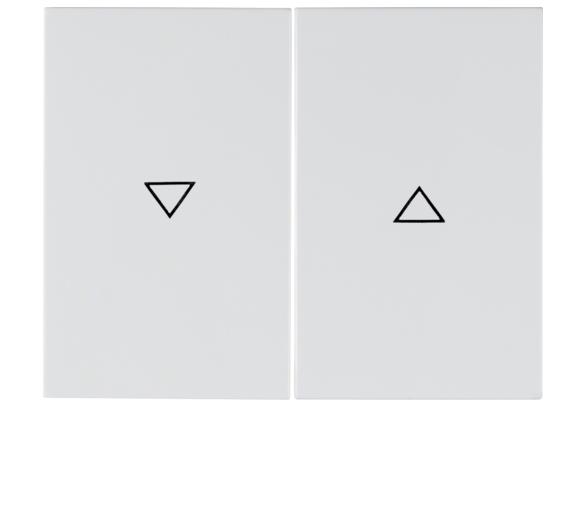 """K.1 Klawisze nadr. symb. """"strzałka"""" do łącznika 2-klawiszowego biały Berker 14357109"""