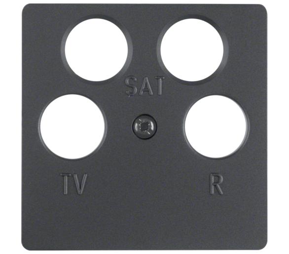 B.X/K.1/Q.x Płytka czołowa do gniazda antenowego 4-wyj., ant Berker 14841606