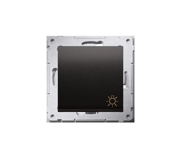 """Przycisk """"światło"""" (moduł) 16AX 250V, zaciski śrubowe, antracyt, metalizowany DS1A.01/48"""