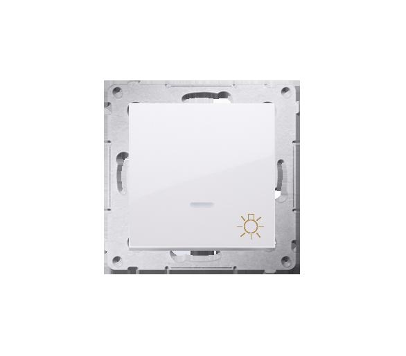 """Przycisk """"światło"""" z podświetleniem LED (moduł) 16AX 250V, zaciski śrubowe, biały DS1AL.01/11"""